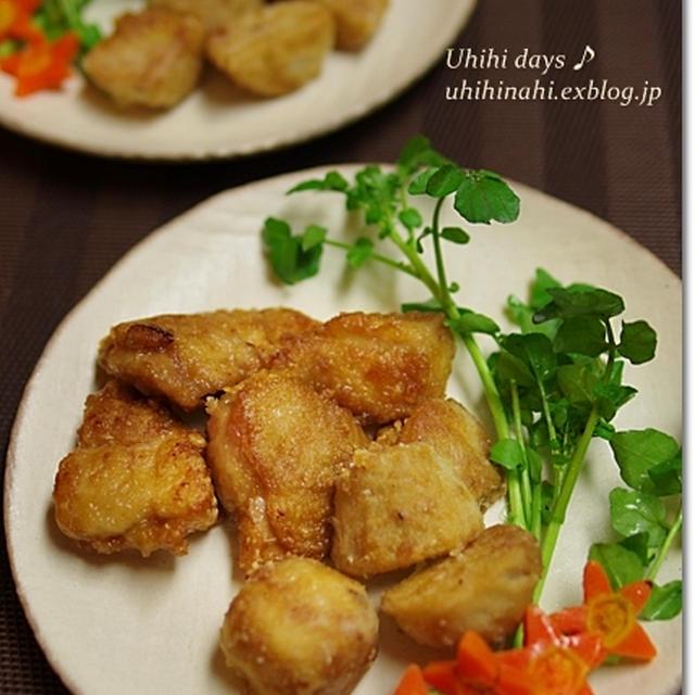 鶏と里芋の竜田揚げ