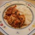 鶏胸肉とトマトの煮込み定食
