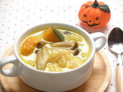 かぼちゃのマカロニスープ☆