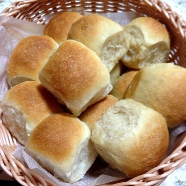 「もっちりちぎりパン(プレーン&黒糖)」& レシピブログ