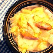 白菜とウインナーの煮込み