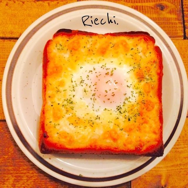 朝ごはんに♡チーズ巣篭もりトースト