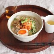 ひんやり麺類♪焼肉のせ冷麺