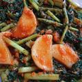 大根の葉入りカクテキの韓国レシピ。栄養たっぷりのムチョンキムチ!