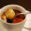 豆乳で作る♪とろ〜りnaほうじ茶プリン〜黒蜜で〜