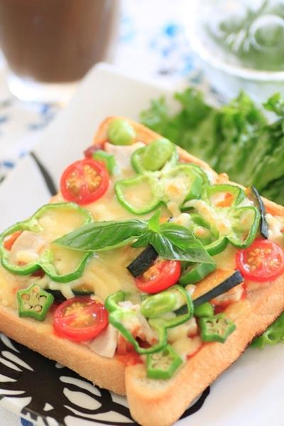 具沢山☆夏野菜のピザトースト
