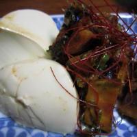 ナスのコチュジャン炒めと手作り豆腐寄せ