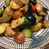 ごろごろ夏野菜のエスニック風