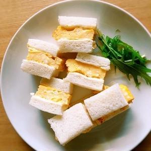厚焼き玉子の存在感がすごい!「関西風玉子サンド」レシピ