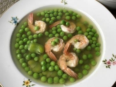 >海老とグリーンピースのスープ ♪鞘の出汁を使って♪ by Mchappykunさん