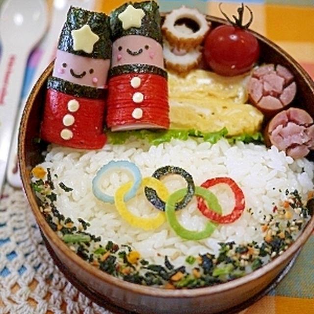 食事【キャラ弁】魚肉で兵隊さん