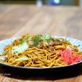 やっぱり美味しい「太麺焼きそば」&メシ通さんアップ!!今回は「かに玉丼」?