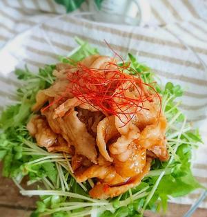 絶対美味しい!野菜たっぷり♡うま辛豚肉のおかずサラダ