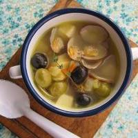 アサリとコンテとオリーブと。な、具沢山スープ♪