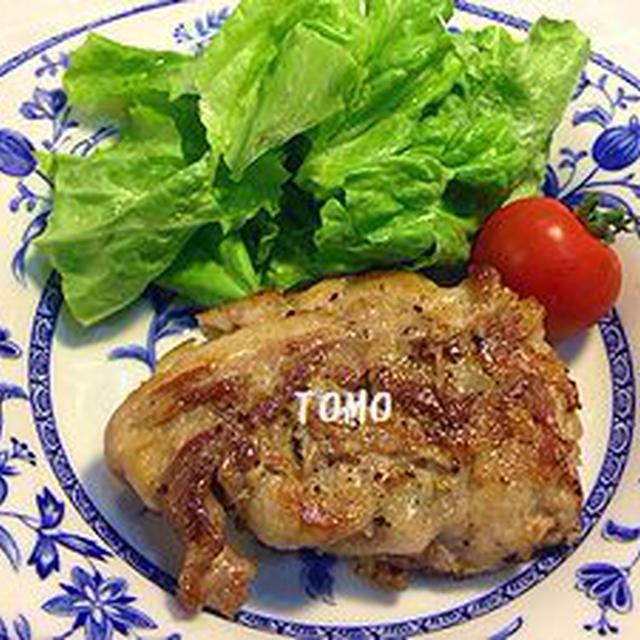 豚コマ肉を豪華に(笑)♪豚コマ肉のトンステーキ