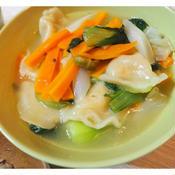 野菜と水餃子のスープ カルダモン風味