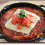 韓国食材チーズ&チーズトッポギdeイタリアン風お好み焼き♪