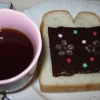 チョコとシナモンシュガートースト
