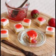 簡単5分!イチゴのレアチーズケーキと手土産風ラッピング