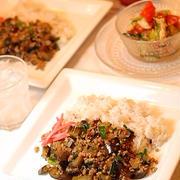 470円*ニラとひき肉のスタミナそぼろご飯定食
