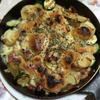 ジャガイモとズッキーニのチーズ焼き