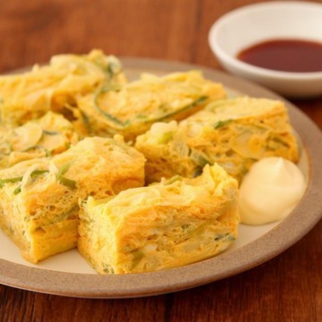 忙しい朝でも簡単!  レンジで「ネギ入り卵焼き」の簡単時短レシピ