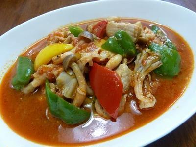【父の日】鶏肉と野菜のトマトソース煮込み♪