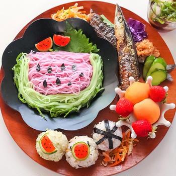 スイカ素麺*ワンプレート夏ごはん