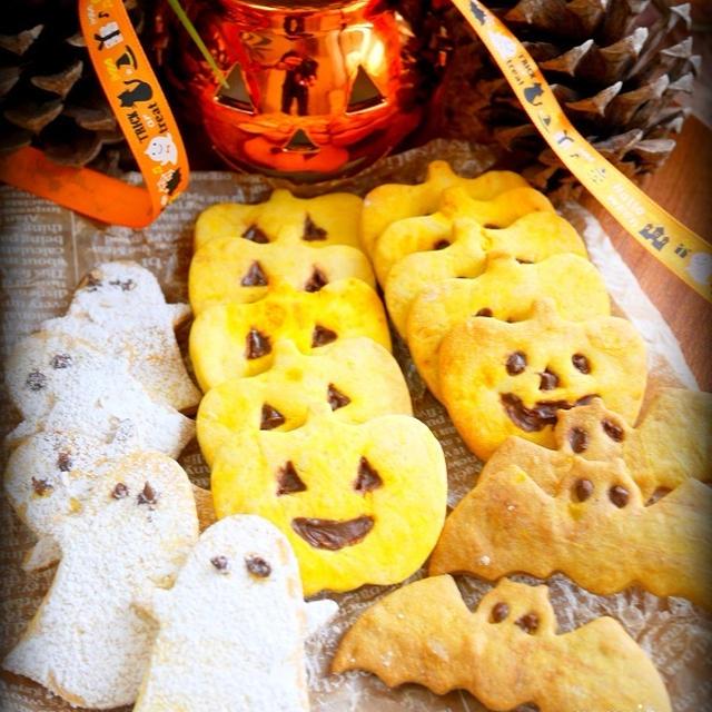 ハロウィン*簡単*南瓜のクッキー