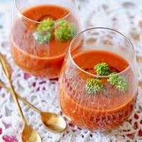 【レシピ・副菜】スペインの冷たいトマトスープ♪ガスパチョ