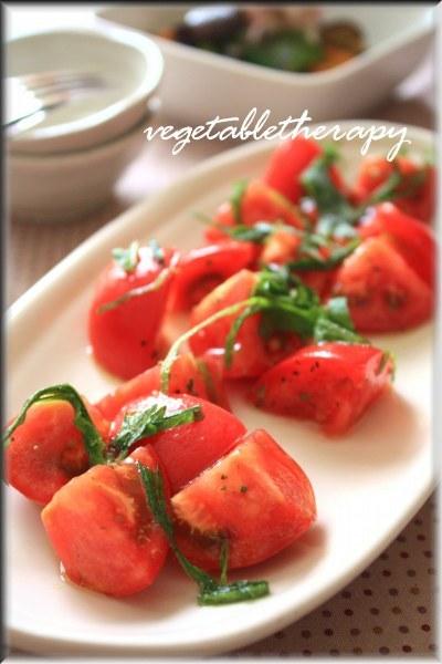 トマトのイタリアンハーブミックスマリネ