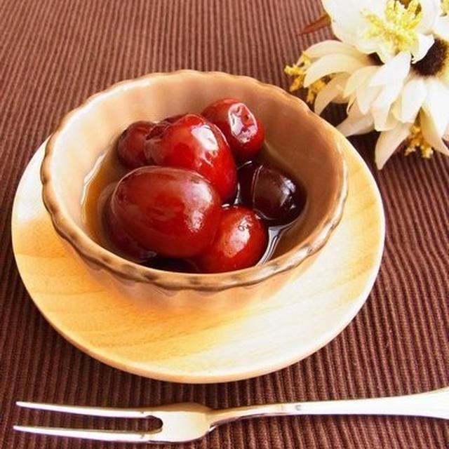 秋の味覚♪ 棗(なつめ) の甘煮