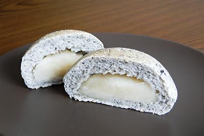 GOPANの黒ごま白あんお米パン