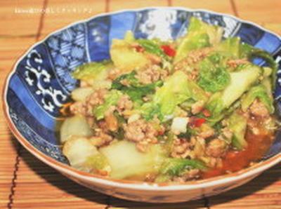白菜の黒いポチポチは何か知ってましたか!? パッパッとご飯♪白菜と挽肉のピリ甘辛炒め