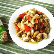 鶏野菜炒め グリーンカレー味