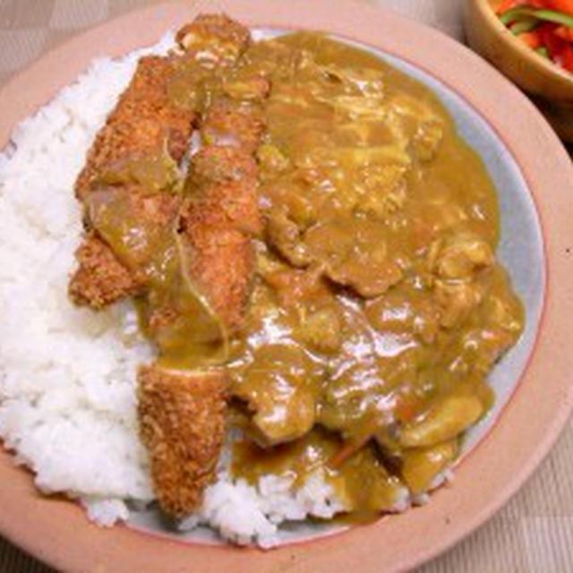 鶏ささみフライのダブル・チキンカレー【満腹中枢リミッター解除】