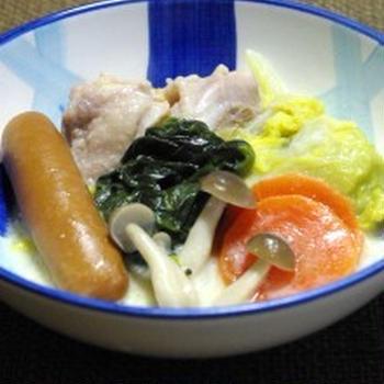 ホワイトソース de クリーム鍋