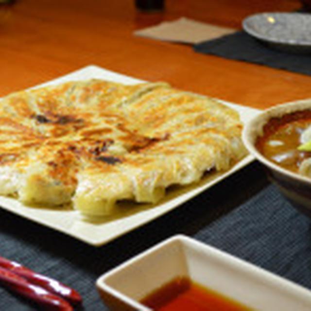 野菜たっぷり羽根つき餃子☆