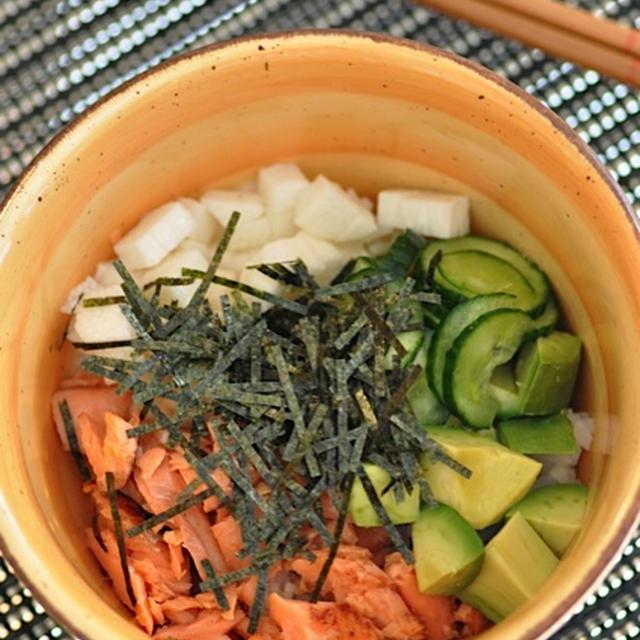 鮭と長芋の元気丼