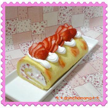 ☆ヘンテコ模様のロールケーキ☆
