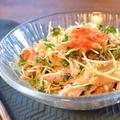 柔らか上級!ヨーグルトキムチのポン生姜ささ身サラダ(糖質4.1g)
