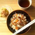 舞茸と挽き肉の、甘辛混ぜご飯