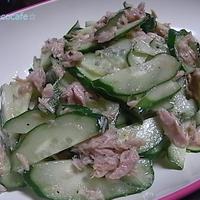 ツナときゅうりのペパーサラダ