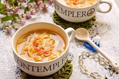 寒い日やダイエットに♪体あったまるピリ辛中華スープ
