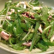 イカと水菜のサラダ
