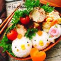 【キャラ弁】鶏おにぎりとチキンボール弁当