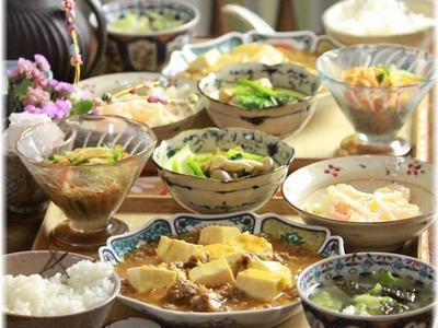 >味噌ケチャ麻婆豆腐。 と 献立。 by YOMEさん