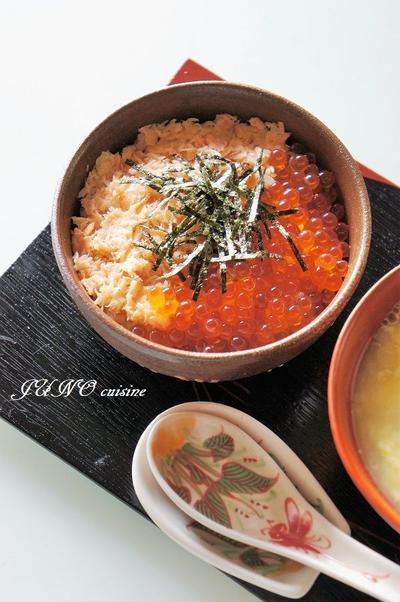 贅沢!「新潟加島屋」の☆鮭といくらの親子丼☆