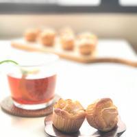 【手作りお菓子】バターなし☆混ぜるだけの簡単生地☆スパイス香る☆りんごのミニマフィン