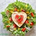 母の日に感謝をこめて~ハートのポテトサラダ♪ by ei-recipeさん